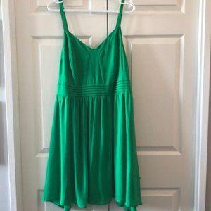 Green chiffon dress torrid 1x